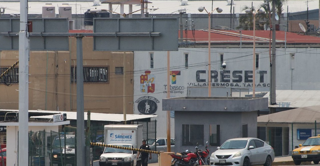 VILLAHERMOSA, TABASCO, 22MAYO2019.- Dos internos en el CRESET resultaron muertos tras suscitarse una riña al interior del penal, donde las víctimas perdieron la vida con arma punzo cortante.