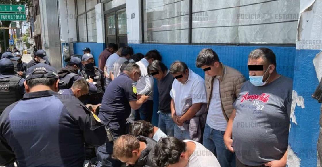 Detienen a 15 por vandalizar e incendiar casillas en Metepec