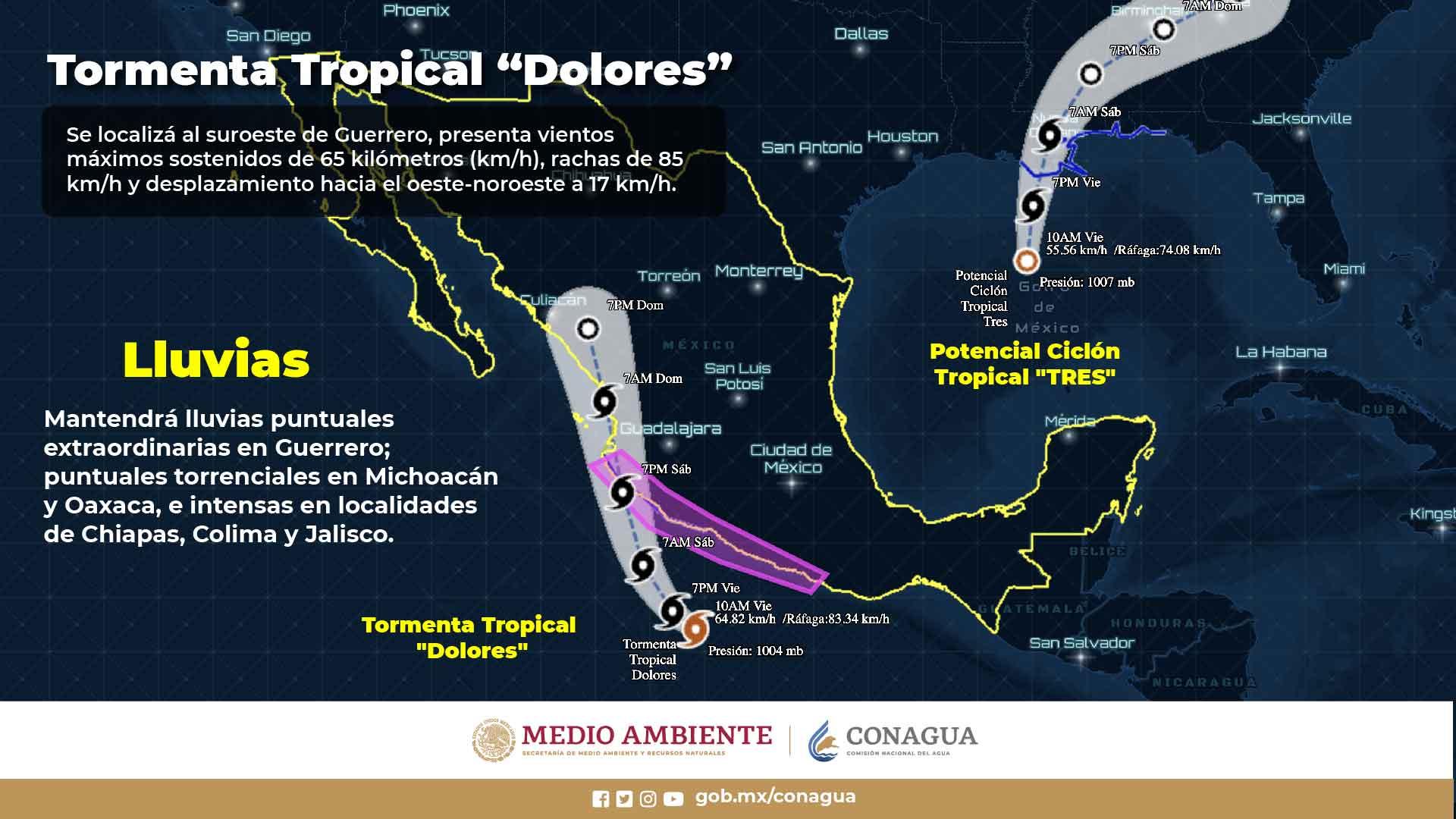 Se forma depresión tropical Cuatro-E al sur de costas de Guerrero