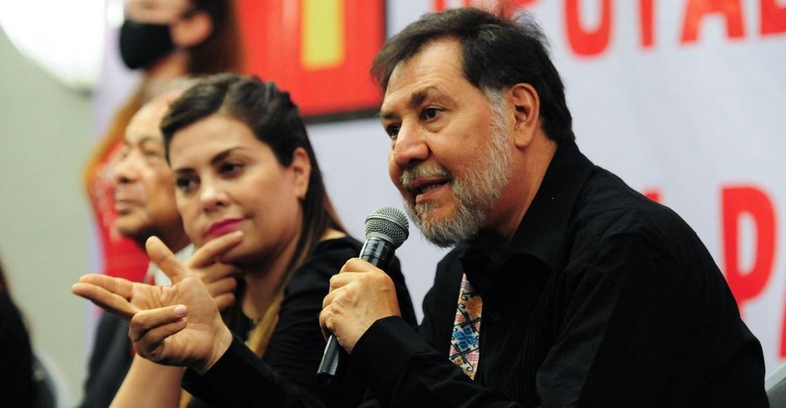 CIUDAD DE MÉXICO, 16JUNIO2021.- En una conferencia de prensa, liderazgos del Partido del Trabajo (PT) anunciaron a Alberto Anaya, dirigente nacional de dicho partido, como nuevo coordinador de los diputados en la cámara baja legislativa.