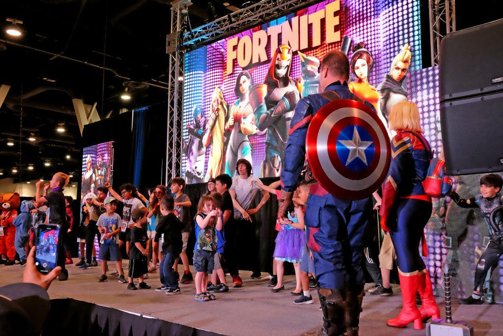 Evento de Fortnite con el Capitán America personaje de Marvel