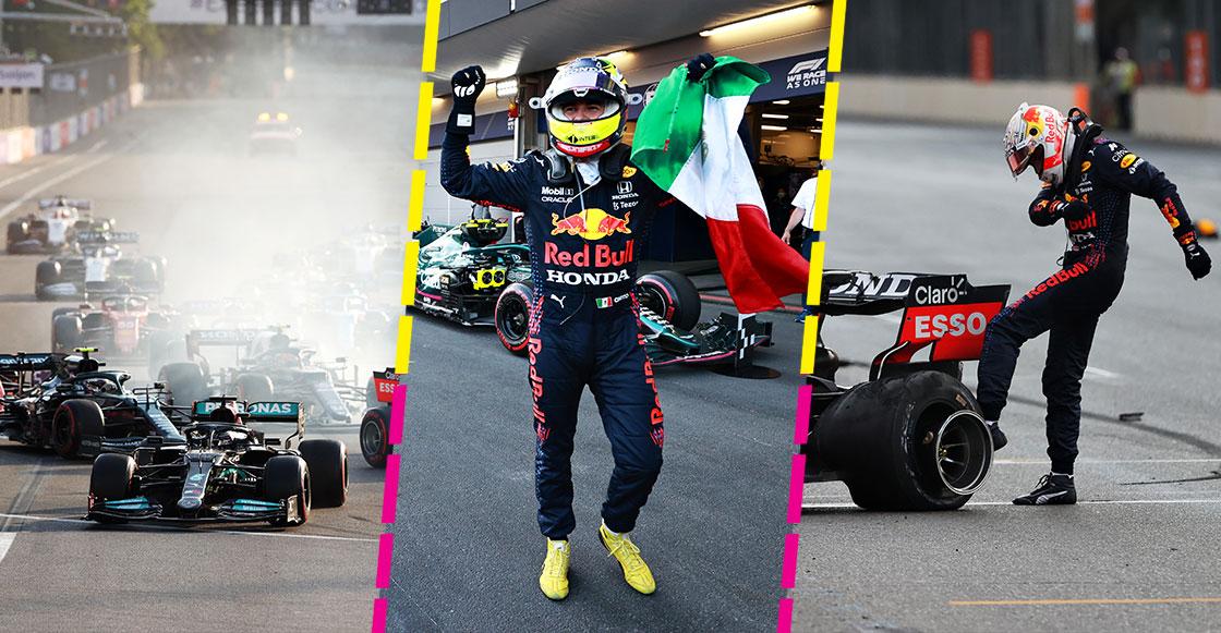 Triunfo de Checo, el choque de Verstappen y el desastre de Mercedes en el Gran Premio de Azerbaiyán
