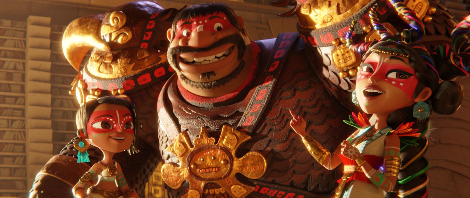 Netflix libera las primeras imágenes de 'Maya y Los Tres', su nueva cinta animada