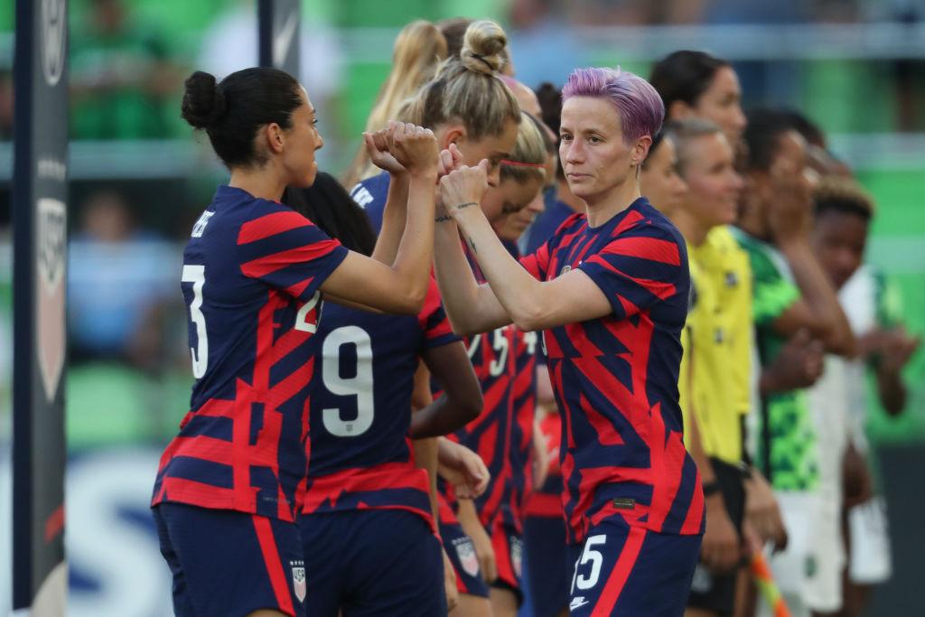 Megan Rapinoe con la selección femenil de Estados Unidos