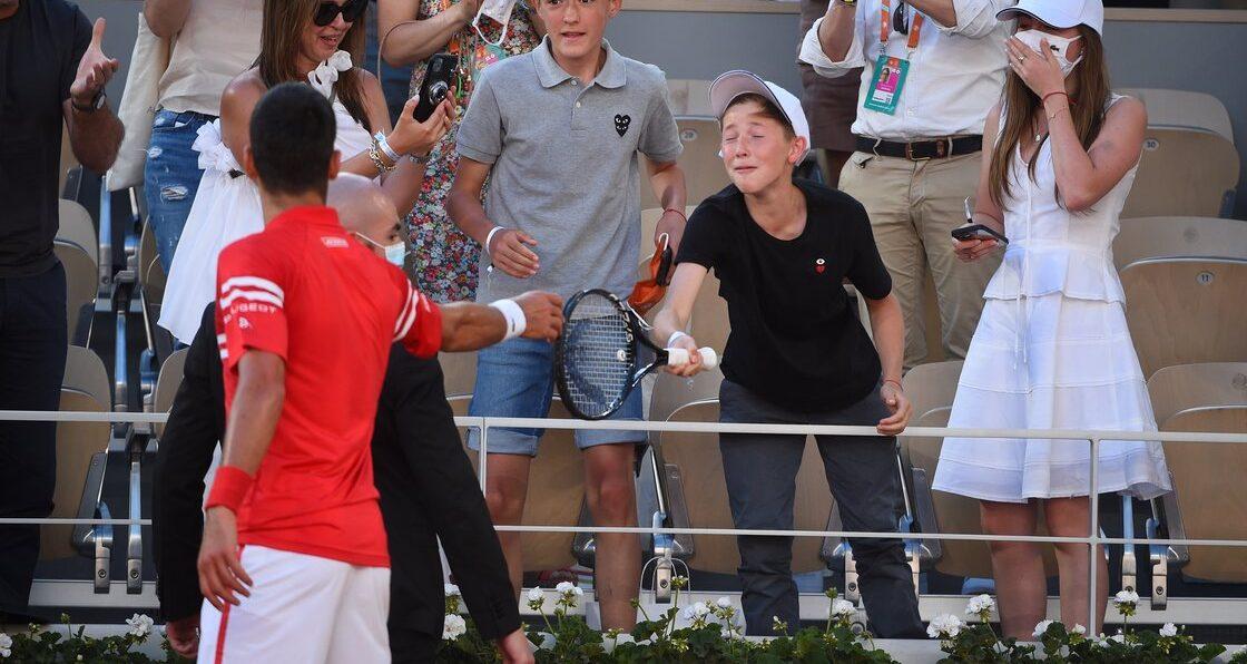 ¡Suertudo! Novak Djokovic regaló la raqueta con la que ganó Roland Garros a un niño mexicano