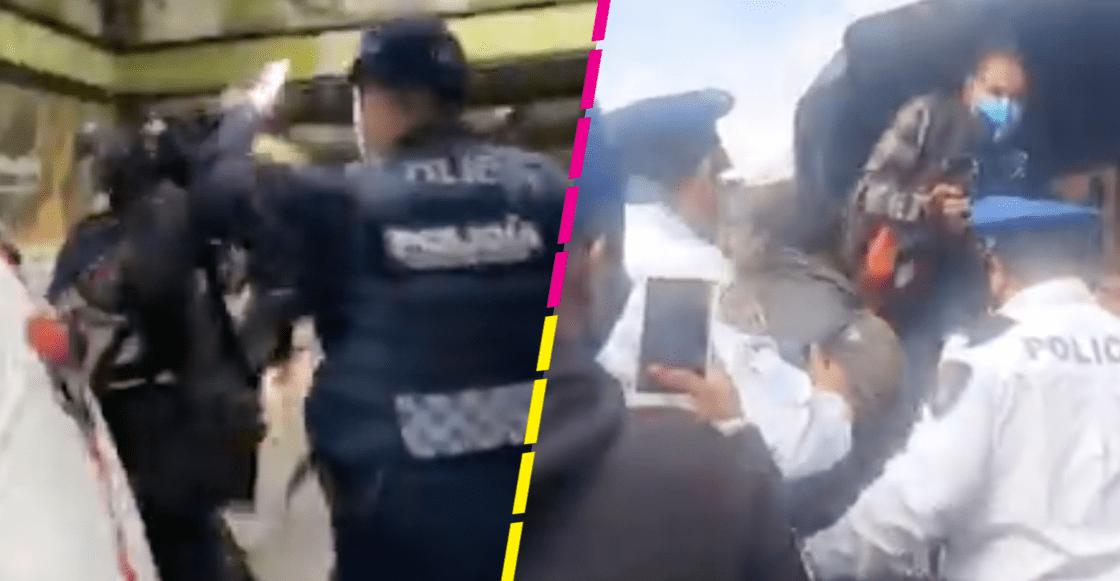 policias-cdmx-metro-centro-foro-tv-imagen-videos-agresiones