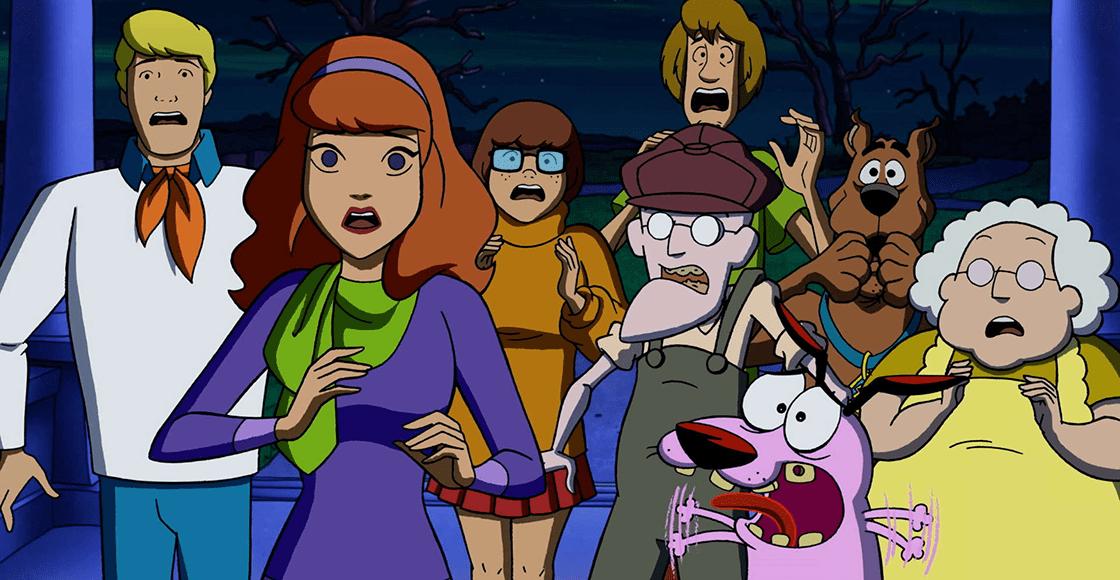 Justo en la infancia: ¡Checa el tráiler del crossover entre Scooby-Doo y Coraje, el perro cobarde!