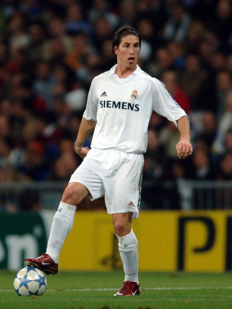 Sergio Ramos en sus primeras temporadas con el Real Madrid