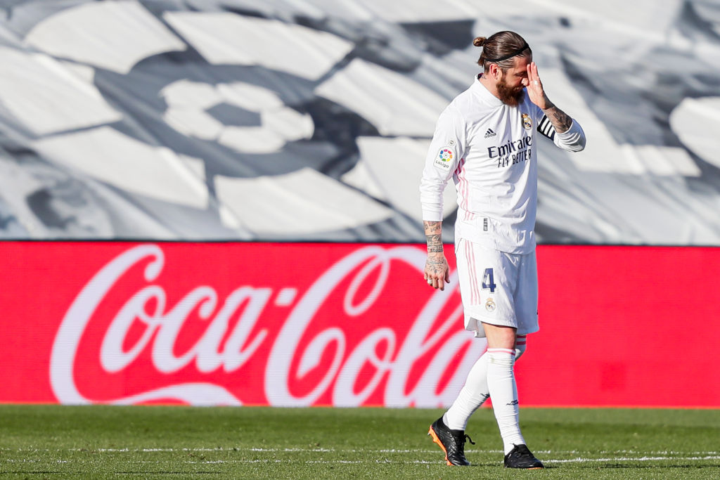 Sergio Ramos en mal momento con el Real Madrid