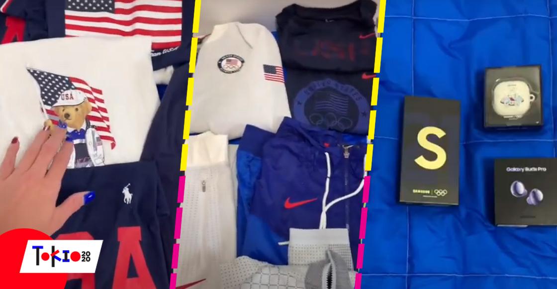 Este es el kit que le dan a la delegación de EU que fue a Juegos Olímpicos de Tokio 2020