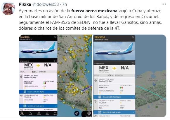 Fuerza Aérea Mexicana Cuba 1