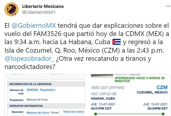 Fuerza Aérea Mexicana Cuba 2