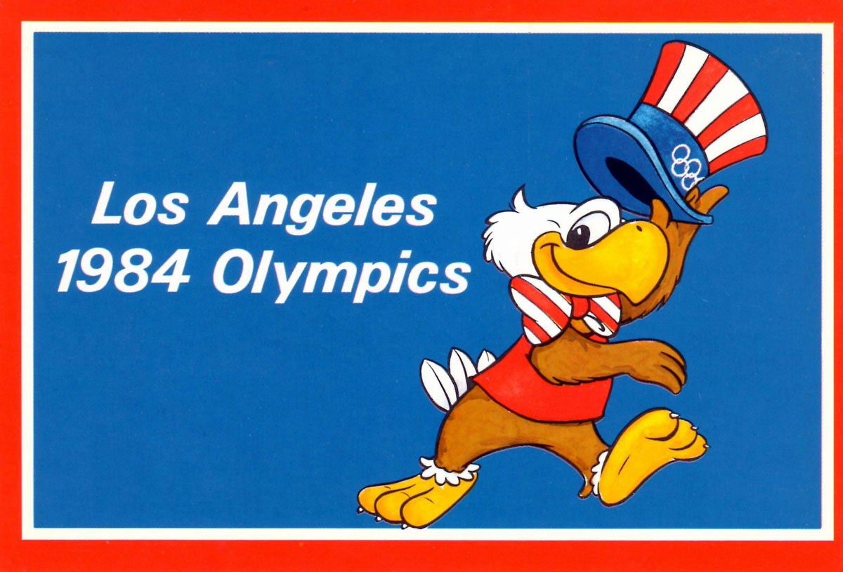 Sam la mascota olímpica de Los Angeles 1984