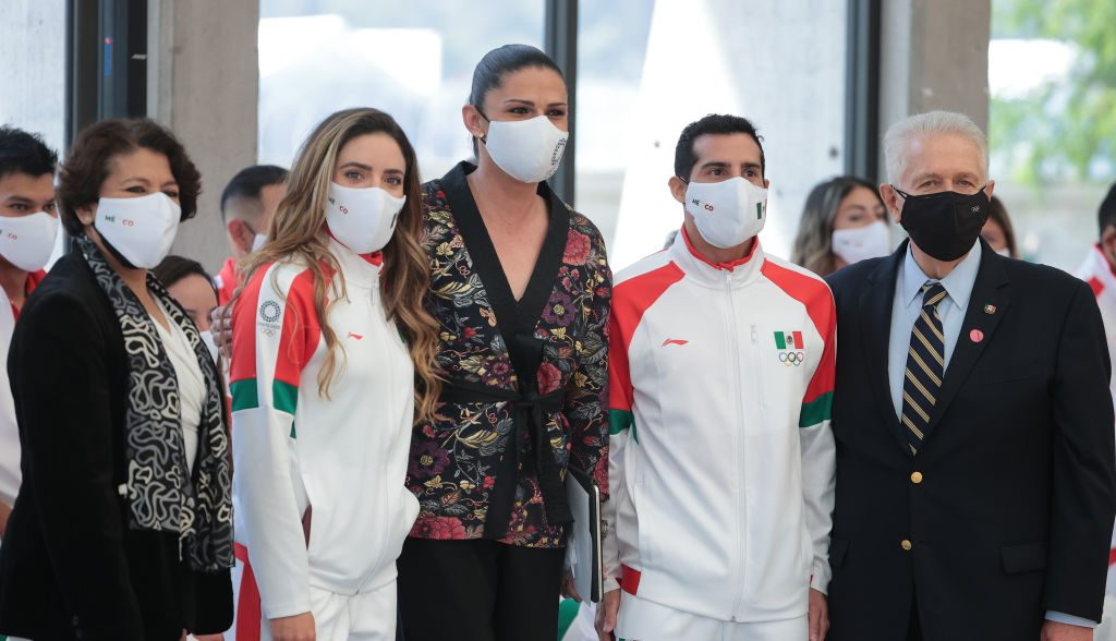 En imágenes: Así fue el abanderamiento de la delegación mexicana que irá a Tokio 2020