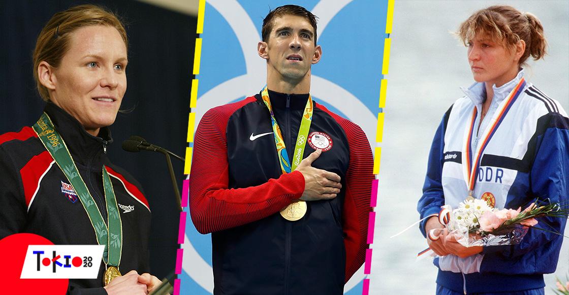 Los atletas con más medallas en la historia de los Juegos Olímpicos