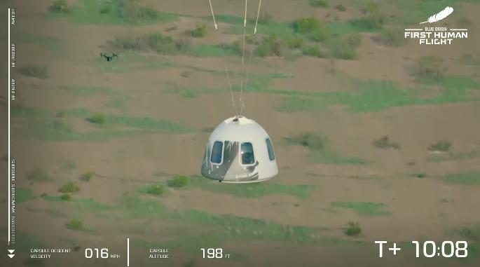 En imágenes: Así fue el viaje de Jeff Bezos al espacio en la misión de Blue Origin