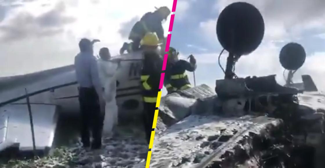 Una avioneta se desplomó en el aeropuerto de Durango; reportan que el piloto murió