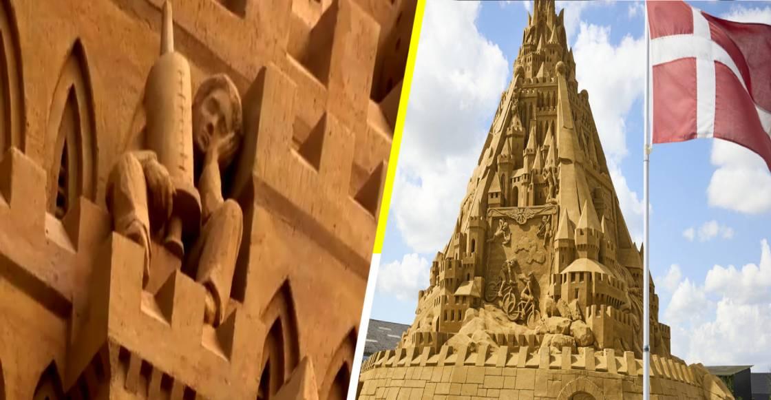 ¡Adiós cubetas y palitas! Este es el castillo de arena más grande del mundo en 2021