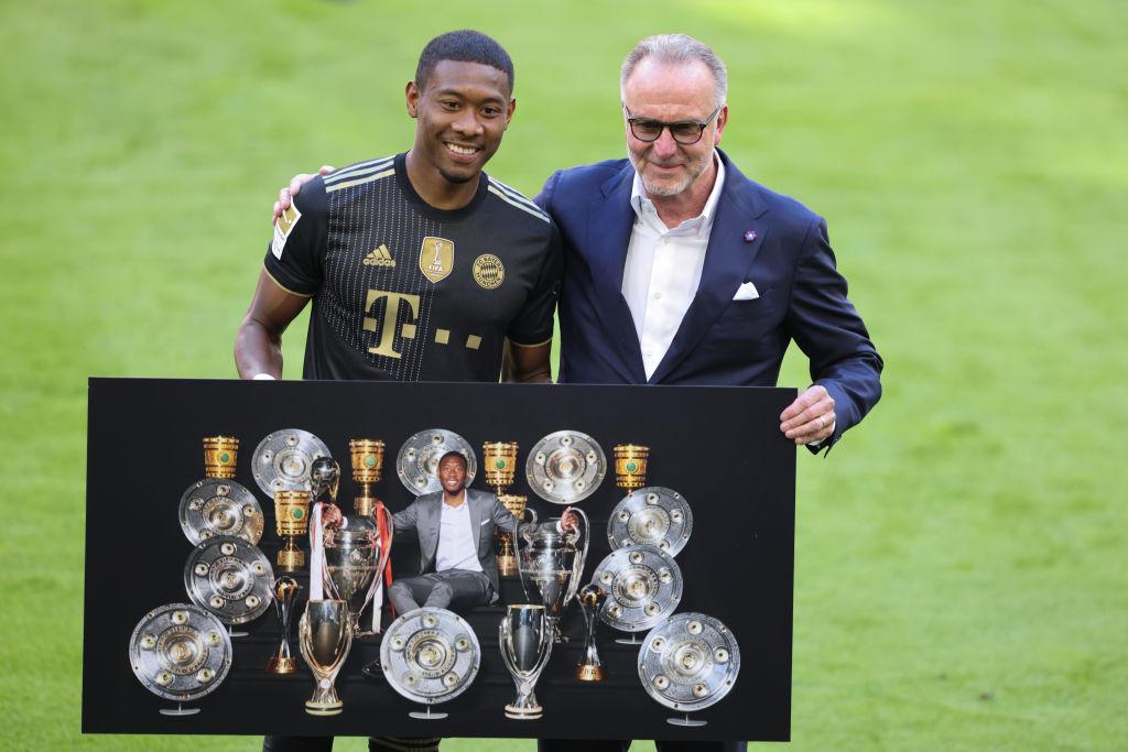 David Alaba en su despedida con el Bayern Munich
