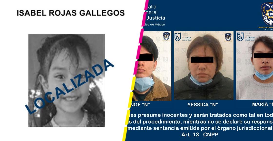 Hallan sin vida a Isabel, niña de 4 años desaparecida en CDMX; detienen a su mamá, padrastro y abuela