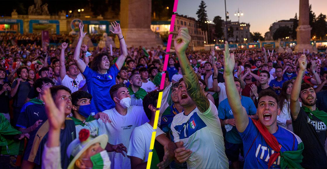 En imágenes y videos: Así fueron los festejos italianos tras las atajadas de Donnarumma en la Eurocopa