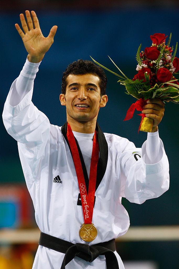 Guillermo Pérez con la medalla de oro en Beijing 2008