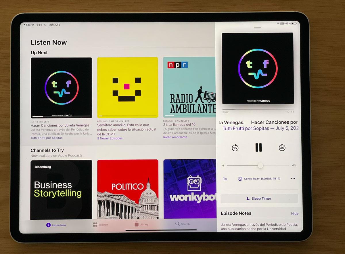 El sonido del nuevo iPad Pro