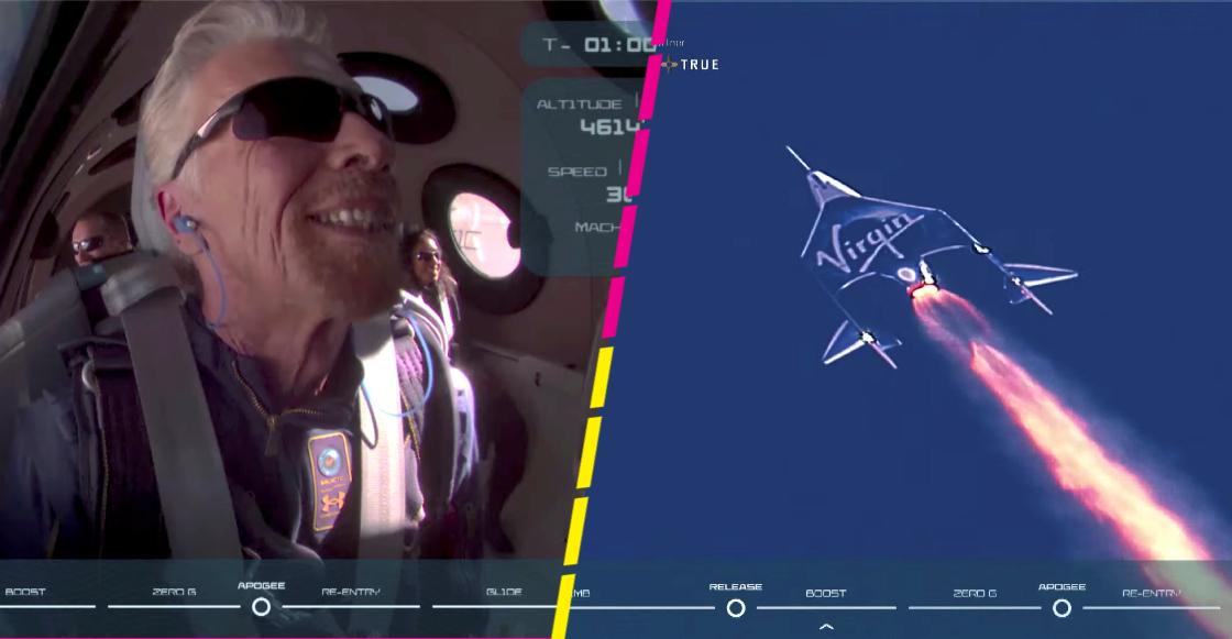 Así se vivió el vuelo al espacio de Richard Branson a bordo del VSS Unity de Virgin Galactic