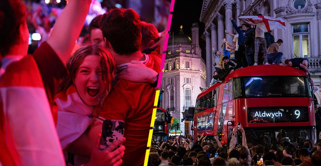 En imágenes y videos: Los eufóricos festejos en Inglaterra tras el pase a la final de la Eurocopa