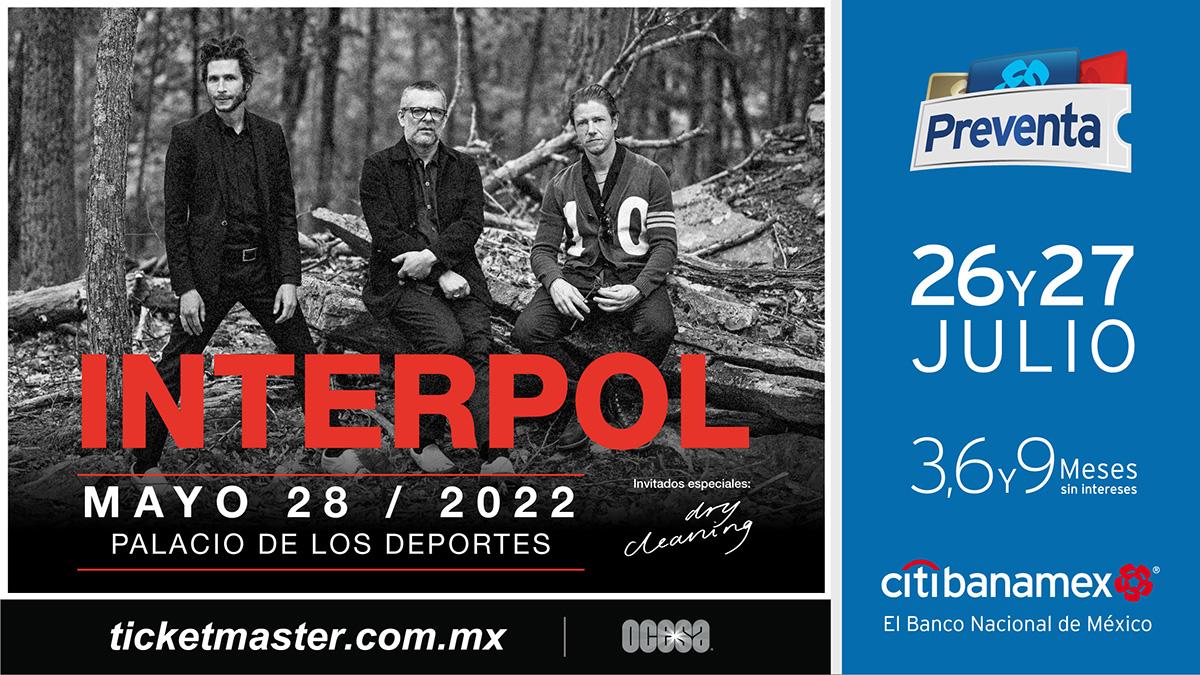 ¡Interpol regresará a México para dar un concierto en la CDMX!