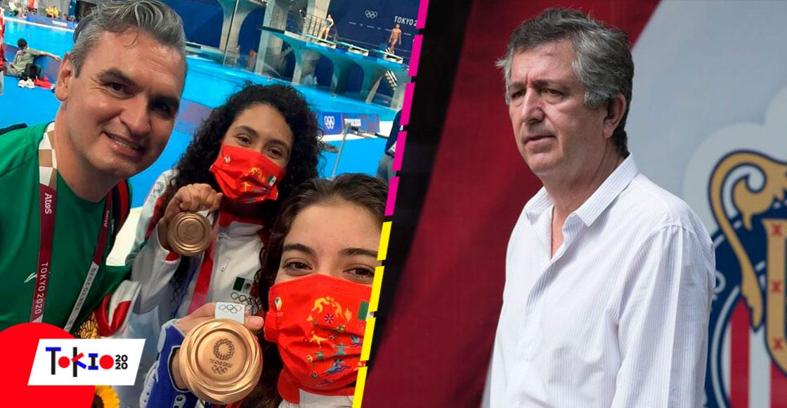 La relación de Iván Bautista, entrenador de clavados, con Jorge Vergara y Chivas