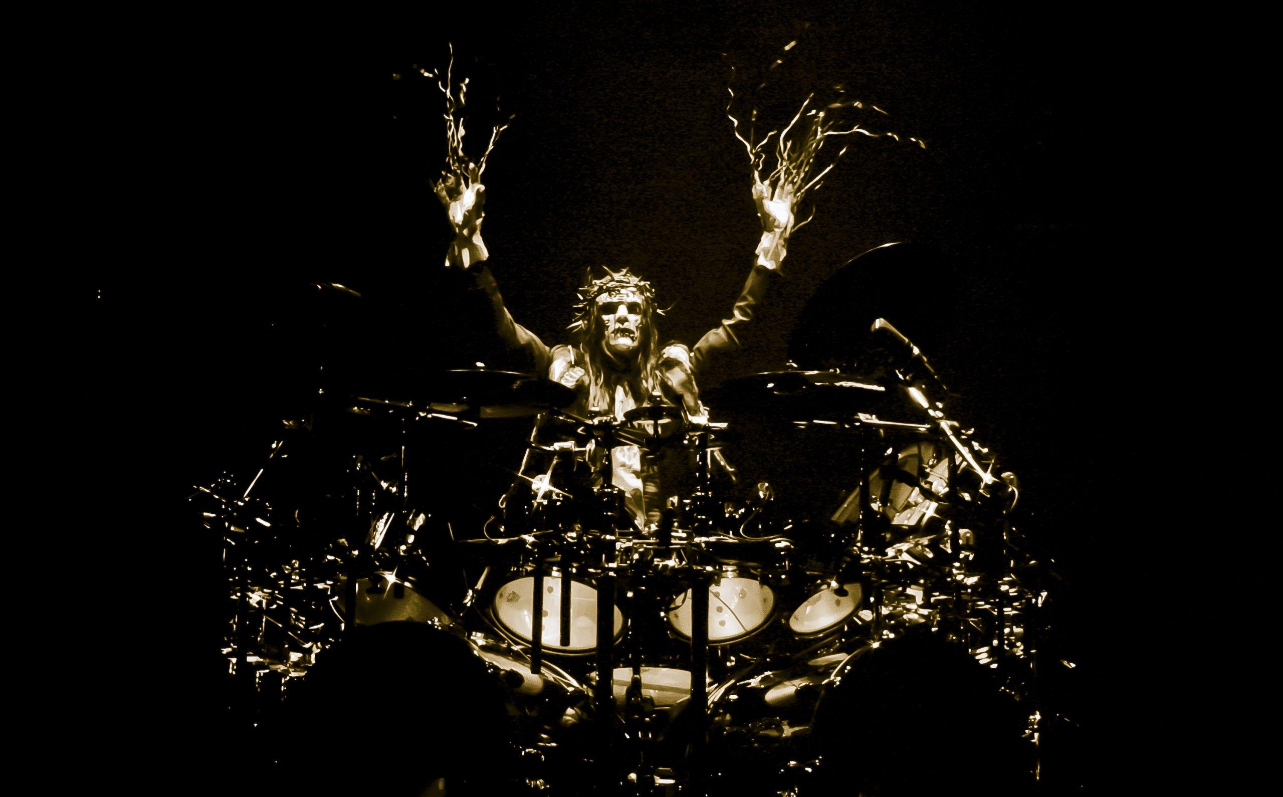 Joey Jordison con Slipknot