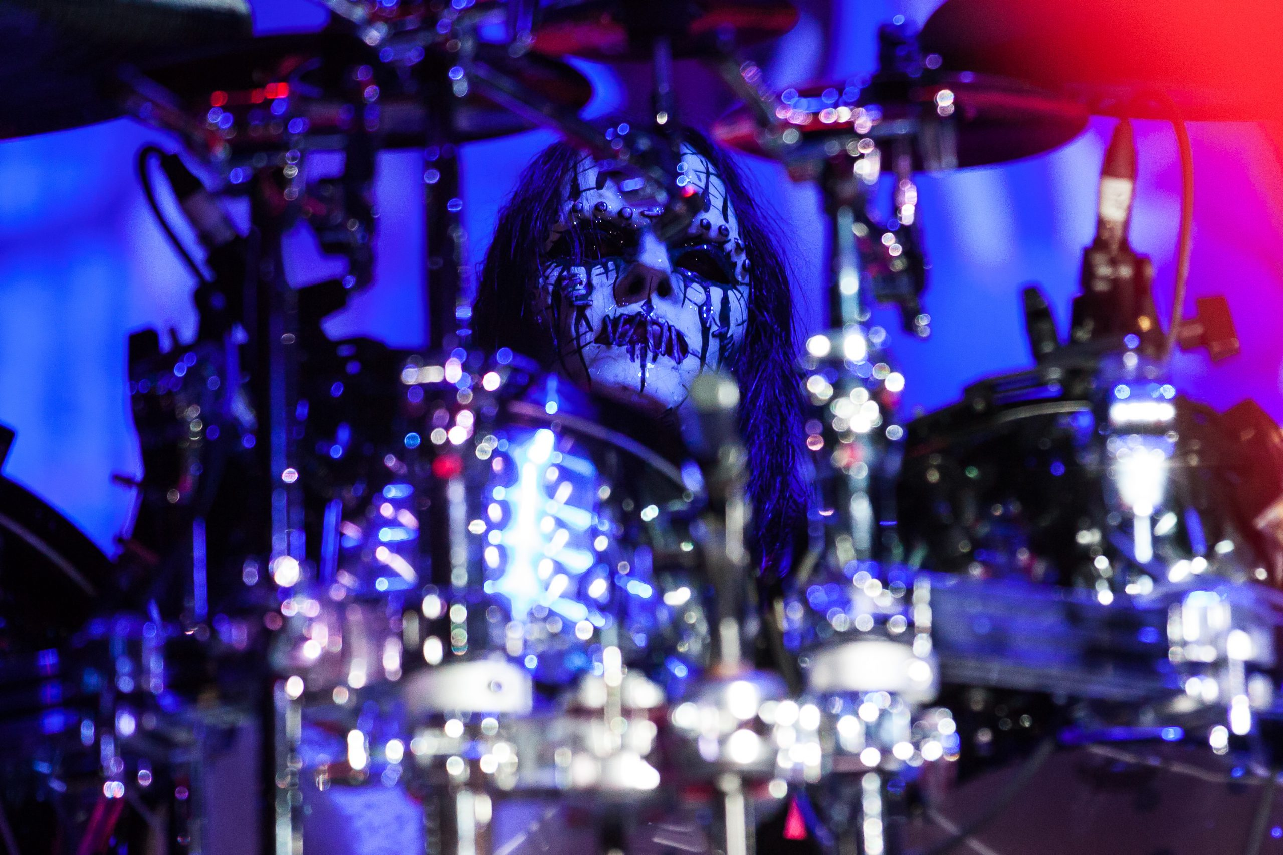 Joey Jordison con Slipknot en 2012