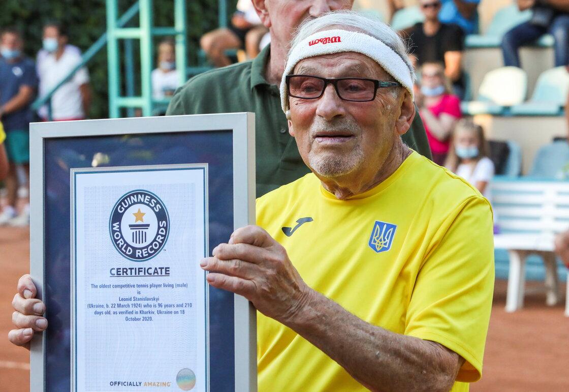 ¿Quién es Leonid Stanislavskyi, el tenista más viejo del mundo?