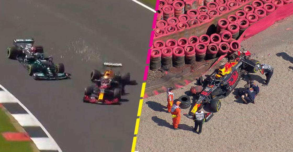 ¡Otra vez Hamilton! El accidente que dejó fuera a Verstappen en el GP de Gran Bretaña