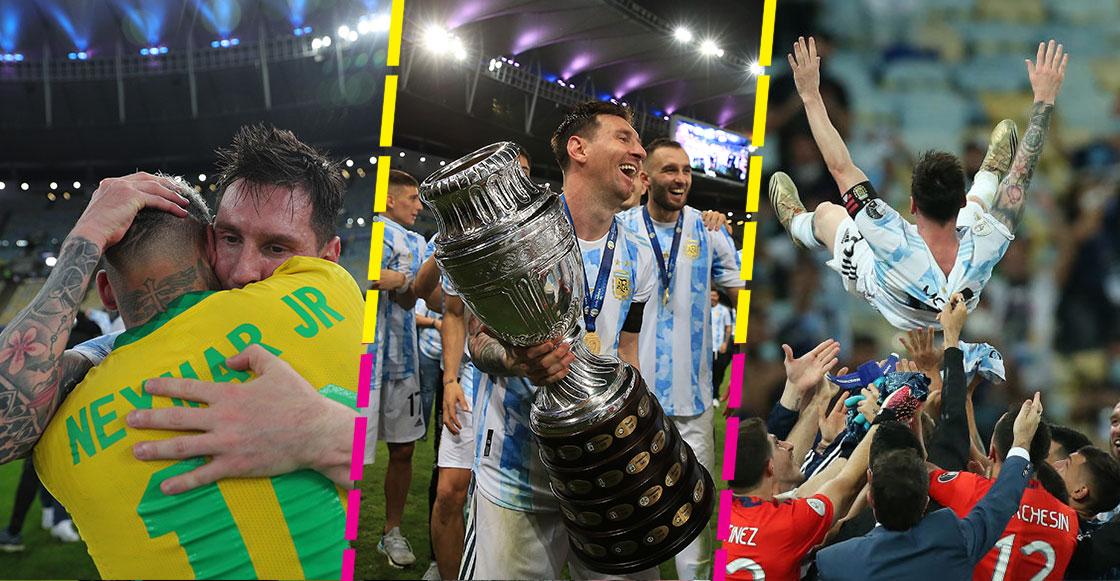En imágenes y videos: Los festejos de Messi y Argentina tras el título en la Copa América