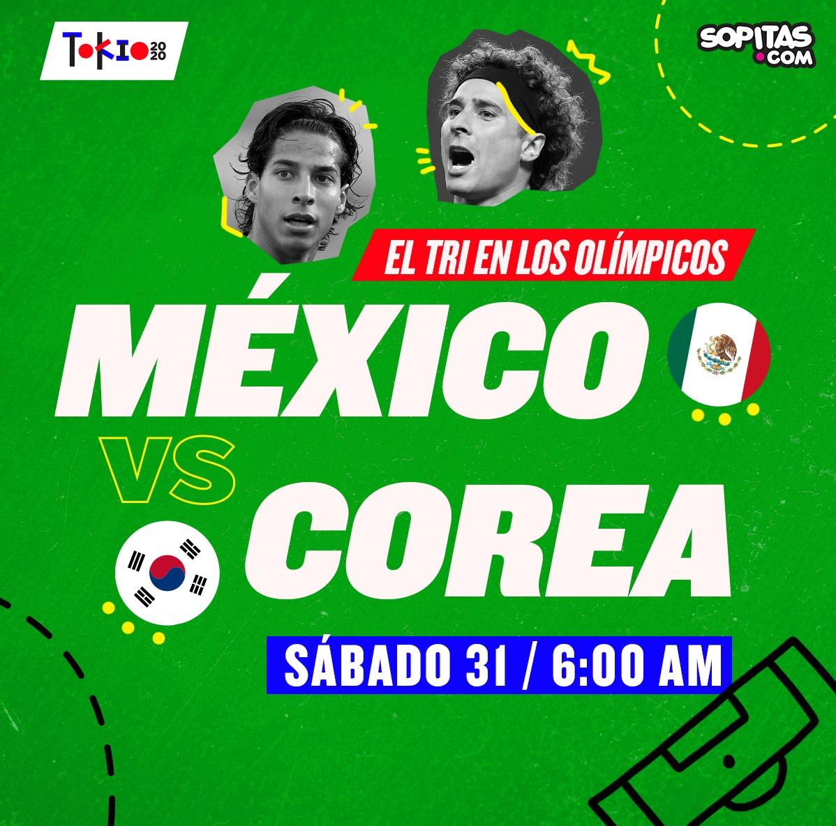 México vs Corea del Sur en Tokio 2020