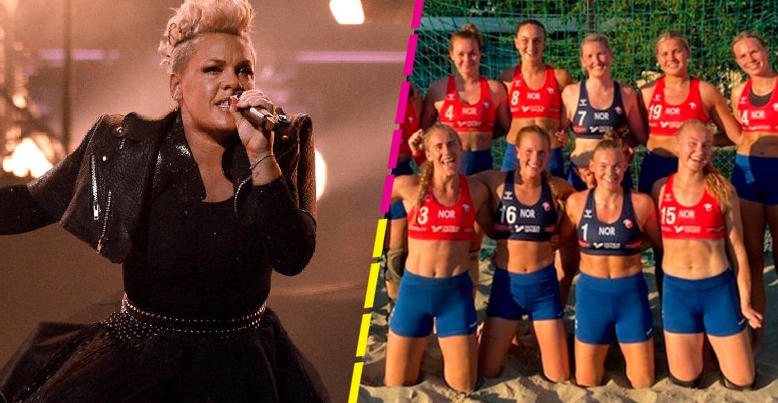 Rifada: Pink se ofrece a pagar multa de equipo de balonmano que se negó a jugar en bikini