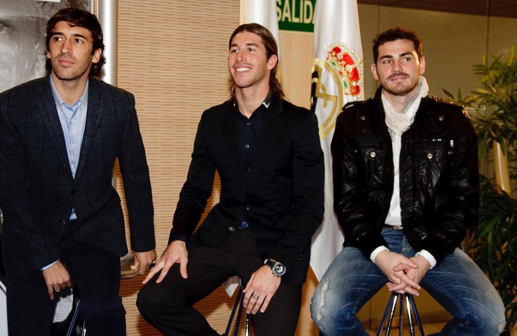 Raúl González, Sergio Ramos e Iker Casillas
