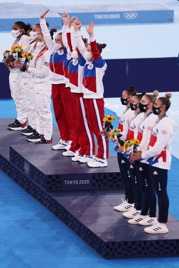 El ROC le quitó la medalla de oro a Estados Unidos en la prueba de gimnasia por equipos