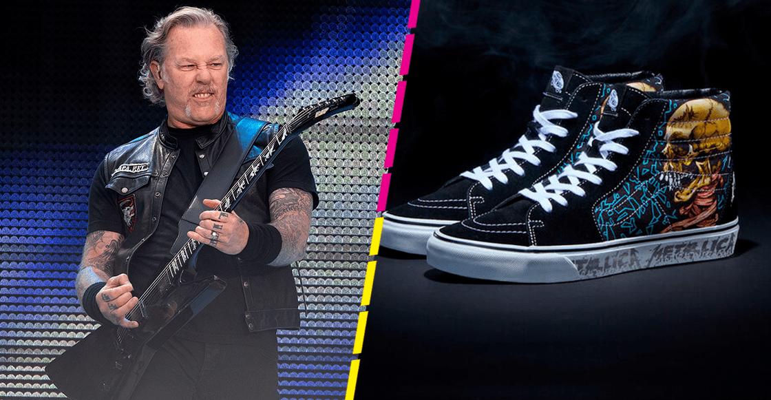 ¡Vans y Metallica lanzarán unos tenis por los 30 años de 'The Black Album'!