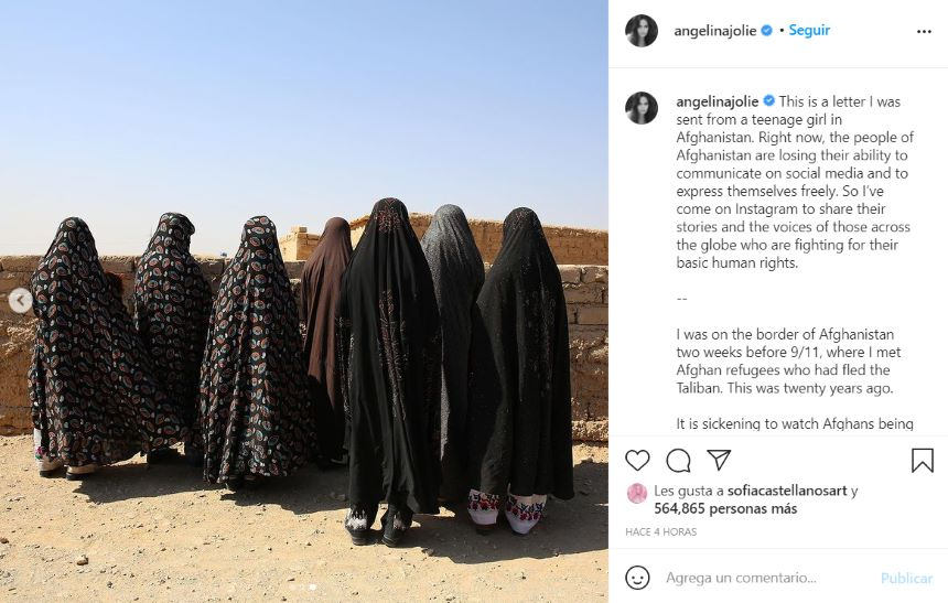 Angelina Jolie estrena Instagram con un emotivo mensaje para los refugiados