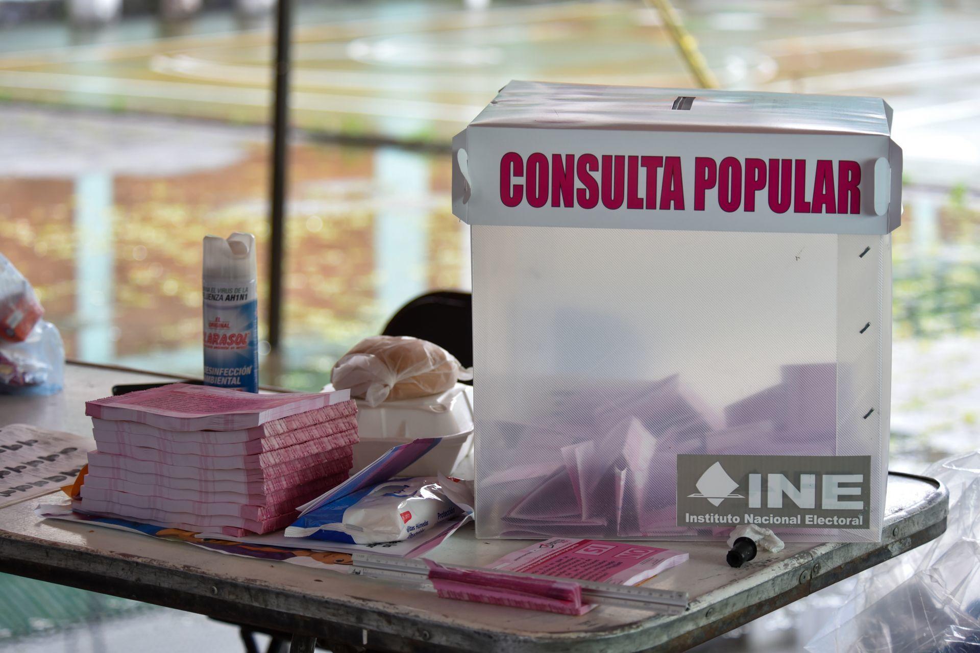 Consulta Popular: El SÍ aventaja por mucho tras conteo rápido del INE