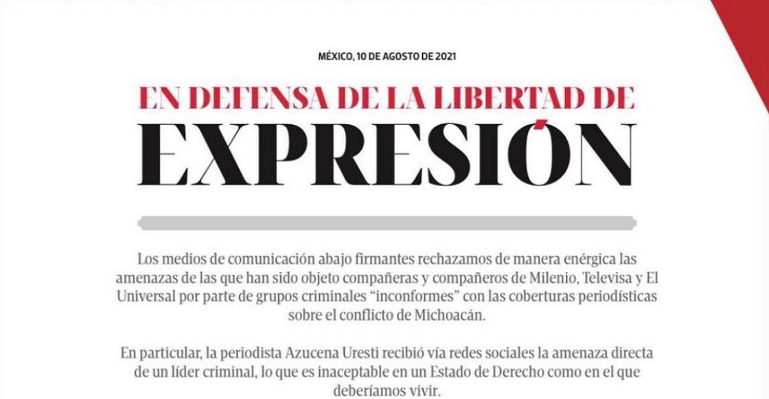 desplegado medios libertad de expresion