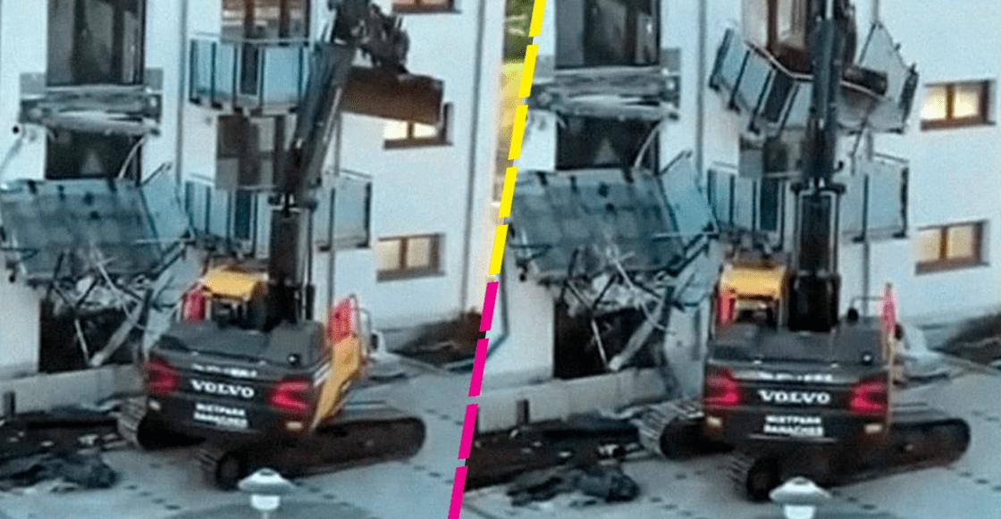 Hombre destruye el edificio que construyó porque no le pagaron su sueldo