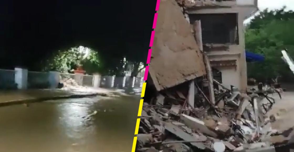 Huracán Nora: Colapsa hotel de Puerto Vallarta tras el desbordamiento del río Cuale