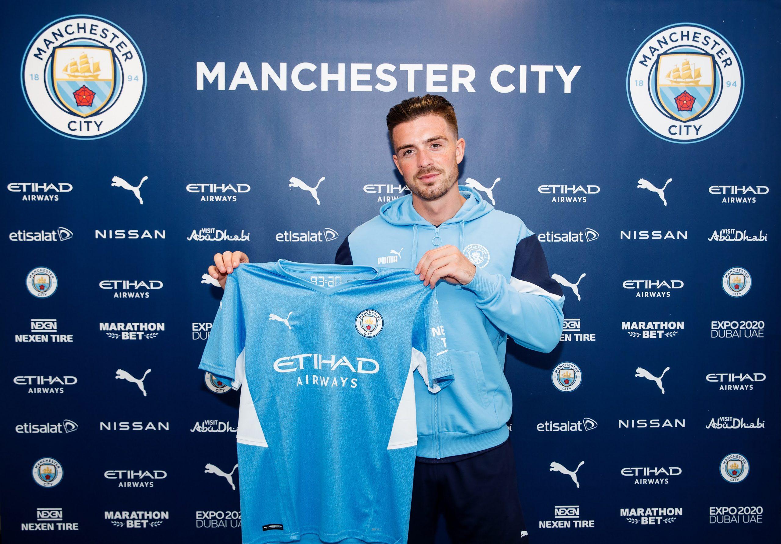 Jack Grealish, nuevo jugador del Manchester City