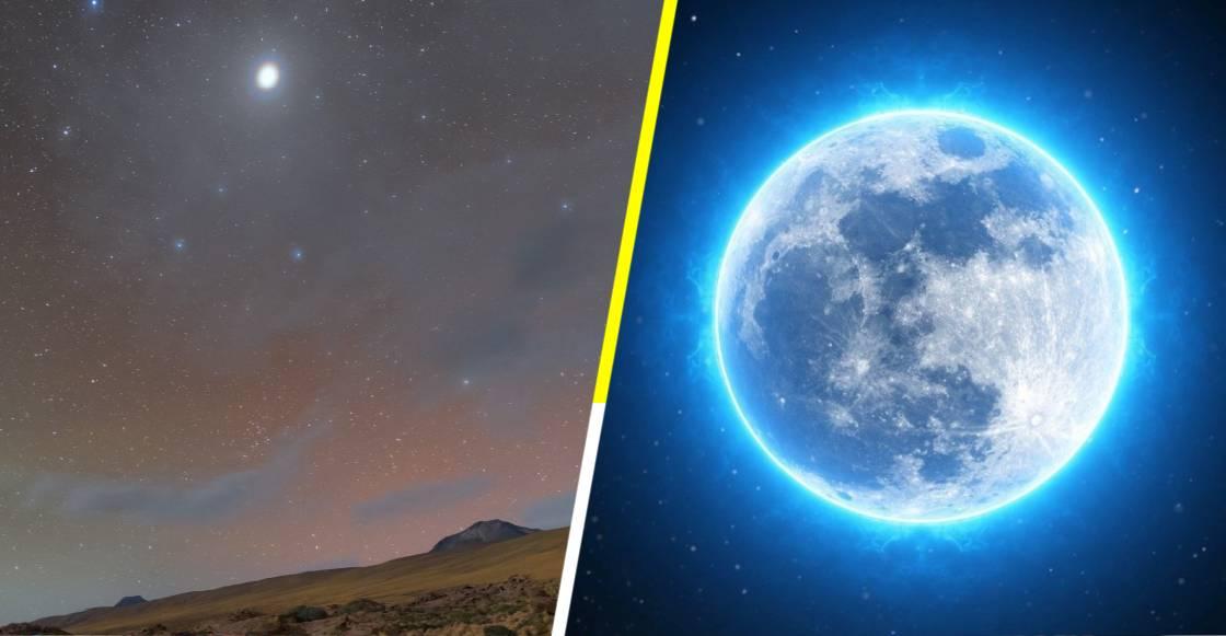 Esta noche la tierra se iluminará con Júpiter y Luna azul brillando en el firmamento