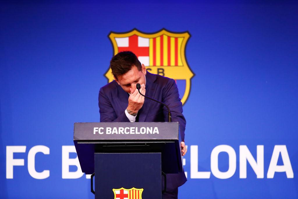 """Messi rompe en llanto en su despedida del Barcelona: """"Es el final en el club que amo"""""""