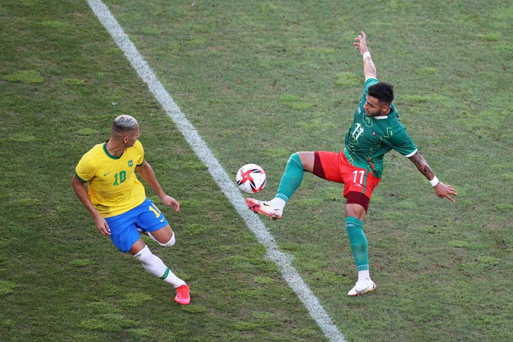 Richarlison vs México en Tokio 2020